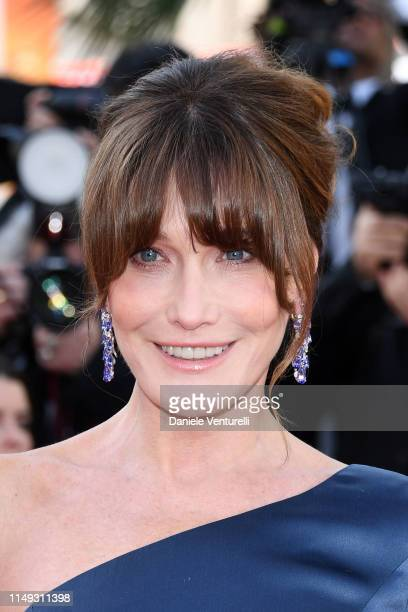 Carla Bruni attends the screening of Les Miserables during the 72nd annual Cannes Film Festival on May 15 2019 in Cannes France