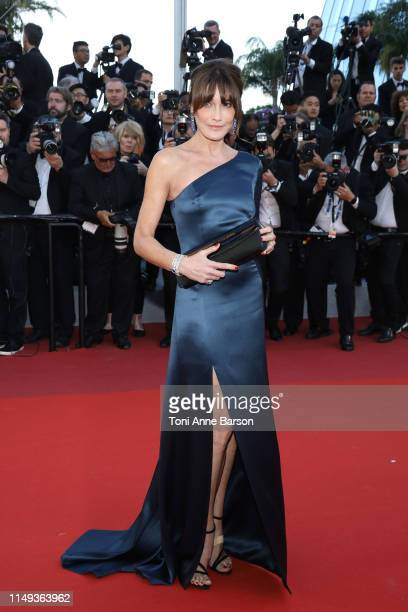 """Carla Bruni attends the screening of """"Les Miserables"""" during the 72nd annual Cannes Film Festival on May 15, 2019 in Cannes, France."""