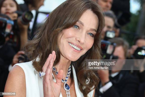 Carla Bruni attends the screening of Sink Or Swim during the 71st annual Cannes Film Festival at Palais des Festivals on May 13 2018 in Cannes France