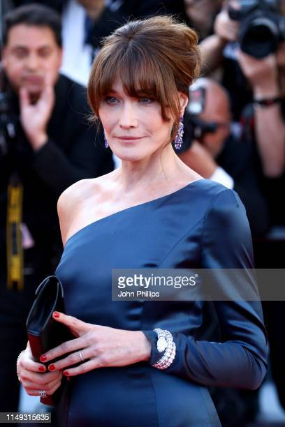 Carla Bruni fashion detail attends the screening of Les Miserables during the 72nd annual Cannes Film Festival on May 15 2019 in Cannes France