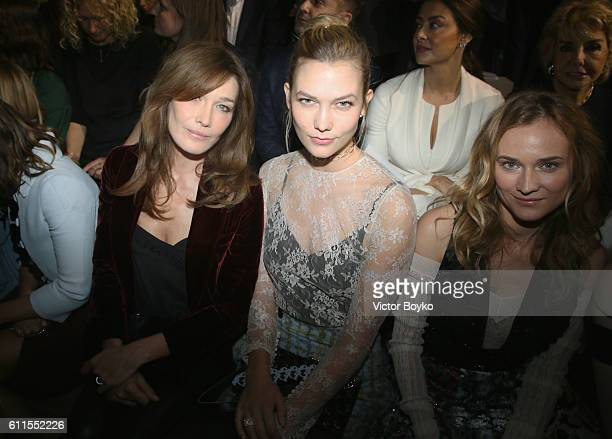 Carla Bruni Karlie Kloss and Diane Kruger attend the Christian Dior show as part of the Paris Fashion Week Womenswear Spring/Summer 2017 on September...