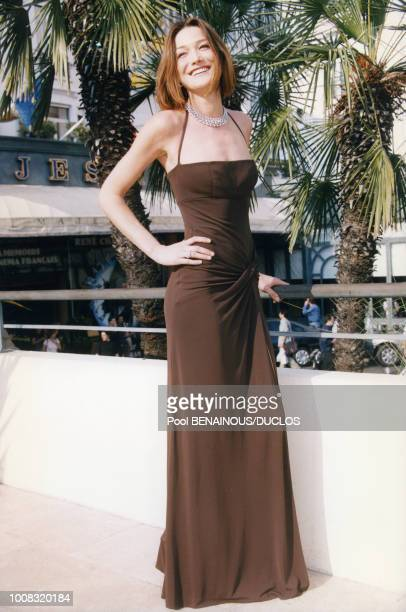 Carla Bruni le 23 mai 1998 au festival de Cannes en France