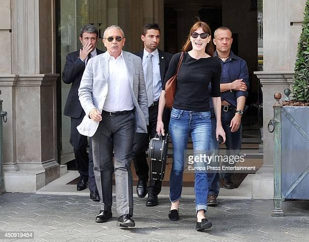 Carla Bruni leaves hotel on June 19 2014 in Barcelona Spain