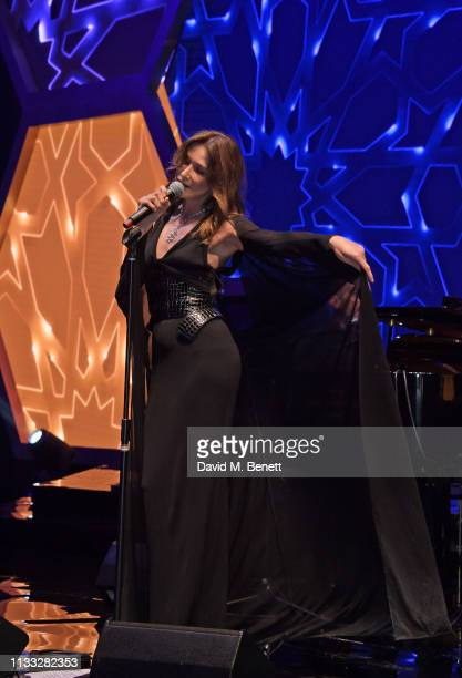 Carla Bruni performs at the Fashion Trust Arabia Prize awards ceremony on March 28 2019 in Doha Qatar