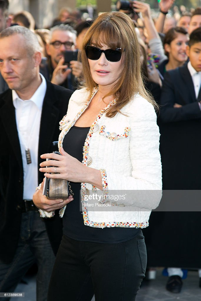 Carla Bruni Sarkozy Arrives To Attend The Chanel Fashion Show On News Photo Getty Images