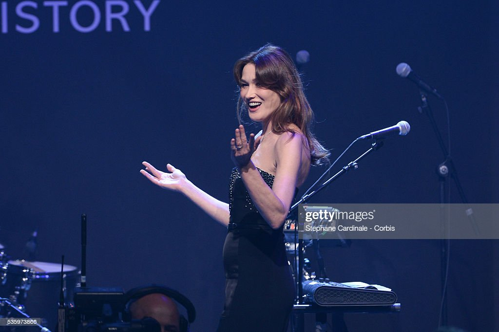 Carla Bruni Sarkozy at the amfAR's 21st Cinema Against AIDS Gala at Hotel du Cap-Eden-Roc during the 67th Cannes Film Festival