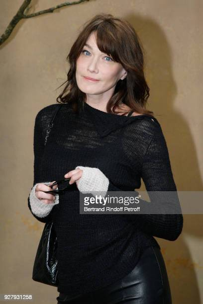 Carla Bruni Sarkozy attends the Chanel show as part of the Paris Fashion Week Womenswear Fall/Winter 2018/2019 on March 6 2018 in Paris France