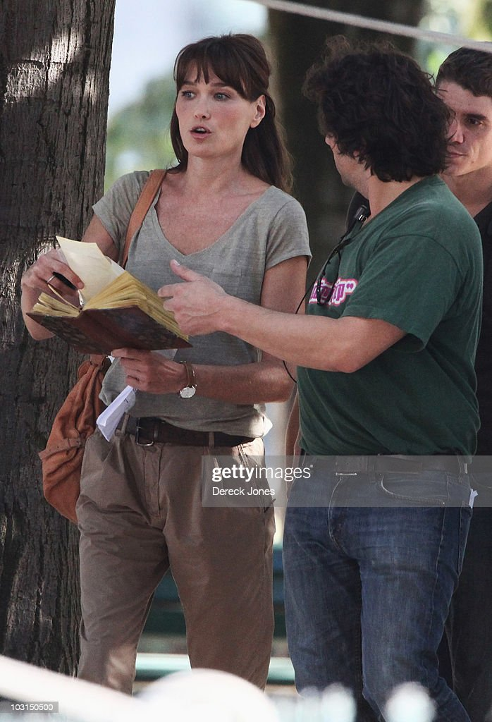 Carla Bruni Sarkozy On Location For The Woody Allen's New Film
