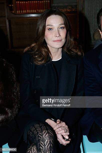 Carla Bruni Sarkozy attends the Givenchy Menswear Fall/Winter 20172018 show as part of Paris Fashion Week on January 20 2017 in Paris France