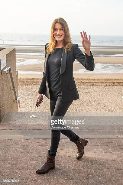 Carla Bruni Sarkozy attends the Opening Dinner for the benefit of the association ' Children of the sun' during the 30th Cabourg Film Festival on...