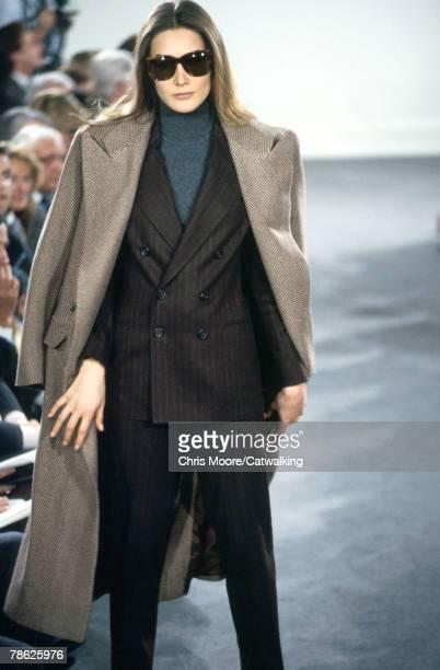 Carla Bruni wearing a creation from Ralph Lauren in 1992 in Paris