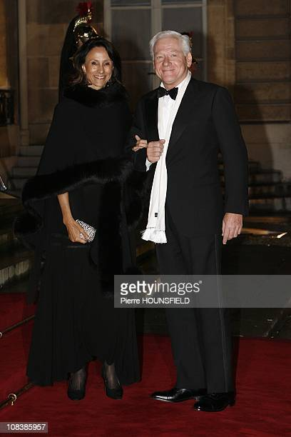 Carla Bruni's father Maurizio Remmert and his wife Marcia de Luca in Paris France on March 10th 2008