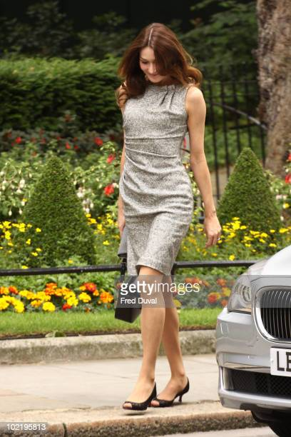 Carla BruniSarkozy arrive at Downing Street on June 18 2010 in London England