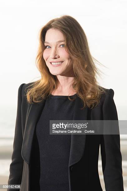 Carla BruniSarkozy attends the Opening Dinner for the benefit of the association ' Children of the sun' during the 30th Cabourg Film Festival on June...