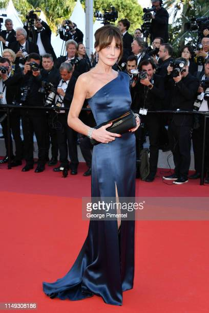 Carla BruniSarkozy attends the screening of Les Miserables during the 72nd annual Cannes Film Festival on May 15 2019 in Cannes France