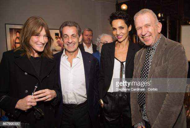Carla BruniSarkozy Former French President Nicolas Sarkozy Farida Khelfa and Jean Paul Gaultier attend the Simon Bocanegra and Philippe Morillon...