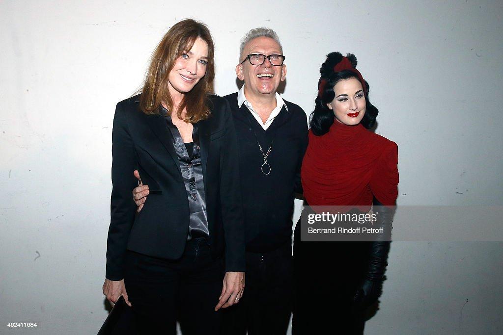 Jean Paul Gaultier : Front Row - Paris Fashion Week - Haute Couture S/S 2015 : News Photo