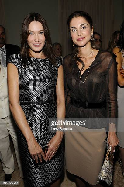 Carla Bruni-Sarkozy , making her first U.S. Appearance as Global Ambassador for the Protection of Mothers and Children against AIDS for the Global...