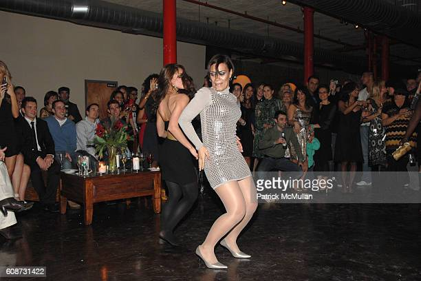 Carla Cruz and Jasmine Santiago attend John Barrett Holiday Party at NYC on December 16 2007 in New York City