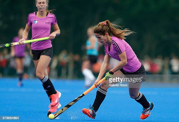 Carla Daniela Dupuy of Argentina drives the ball during an International Friendly match between Argentina and Ireland at CenARD on July 24 2016 in...