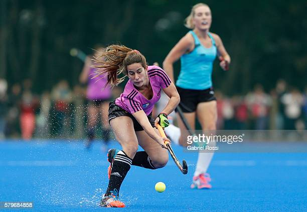 Carla Daniela Dupuy of Argentina hits the ball during an International Friendly match between Argentina and Ireland at CenARD on July 24 2016 in...