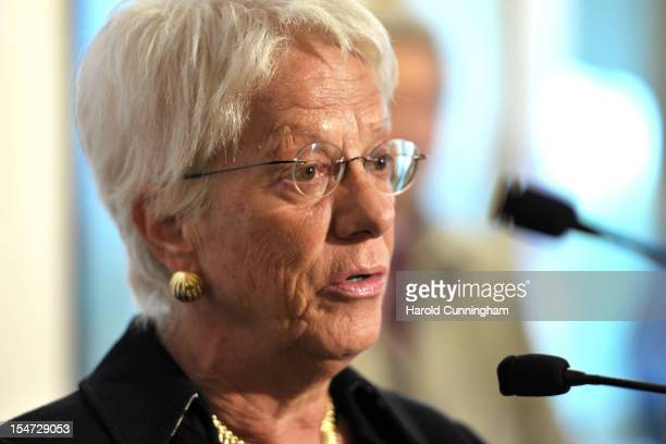 Carla Del Ponte member of The Commission of Inquiry on Syria addresses the press for the first time with the new group composition following the...
