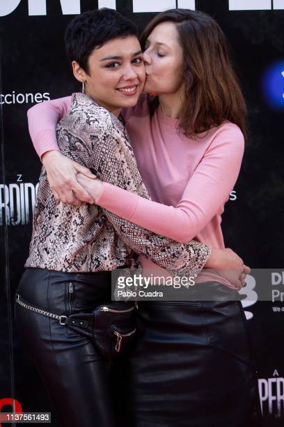 Carla Diaz and Bea Segura attend the 'La Caza Monteperdido' photocall on March 22 2019 in Madrid Spain