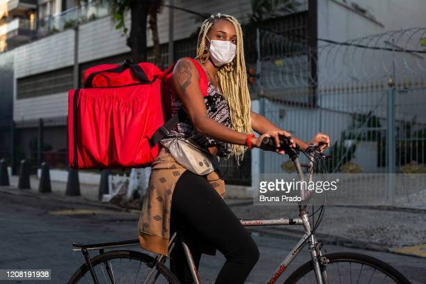 Carla Estefani 21 years old resident of Morro da Mangueira in the Benfica neighborhood poses for a portrait on March 24 2020 in Rio de Janeiro Brazil...