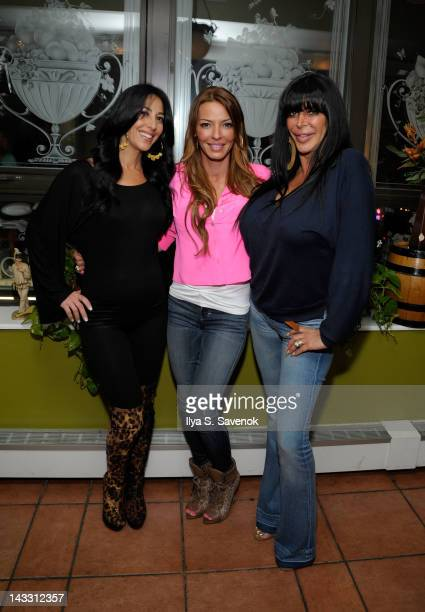 Carla Facciolo Drita D'Avanzo and Angela 'Big Ang' Raiola attend Giovanna Restaurant on April 23 2012 in New York City