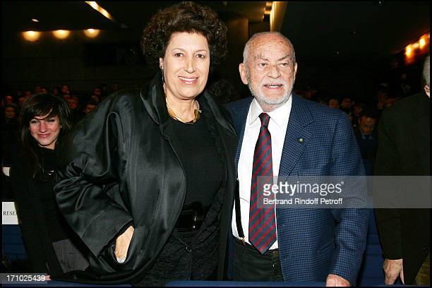 Carla Fendi and Dino De Laurentiis Premiere of the movie 'Hannibal Rising' at the Charles Louis Havas space in Neuilly Sur Seine Paris