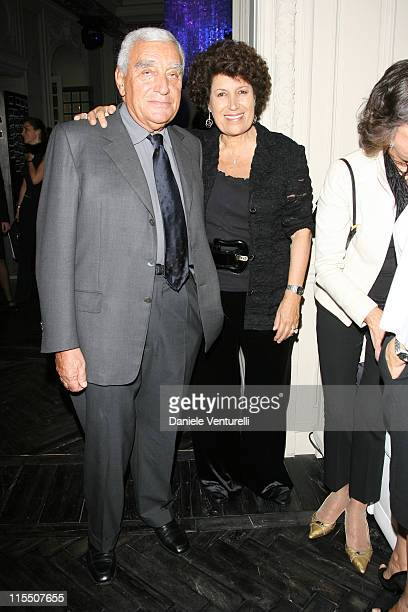 Carla Fendi and il marito during The Diamond Ribbon Awards Honor the Four Most Recent Italian Directors to Win Academy Awards for Best...