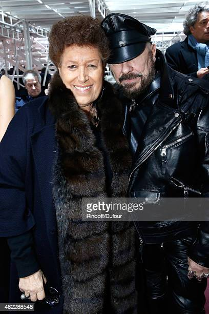 Carla Fendi and Peter Marino attend the Christian Dior show as part of Paris Fashion Week Haute Couture Spring/Summer 2015 on January 26 2015 in...