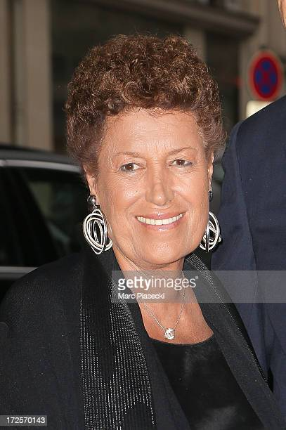 Carla Fendi arrives to attend the 'The Glory of Water' Karl Lagerfeld's exhibition at FENDI store on Avenue Montaigne on July 3 2013 in Paris France