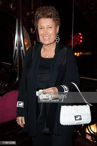 Carla Fendi attends the delivery of the medal of the 'Chevalier de l'Ordre des Arts et des Lettres' to Gilles Dufour at Maxim's on July 3 2013 in...