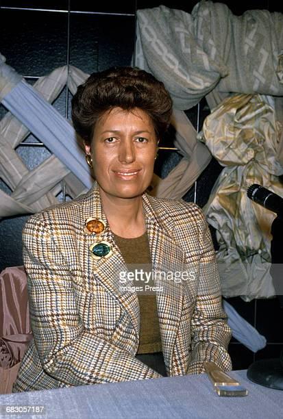 Carla Fendi attends the Moda Italia Gala promoting Italian trade circa 1989 in New York City