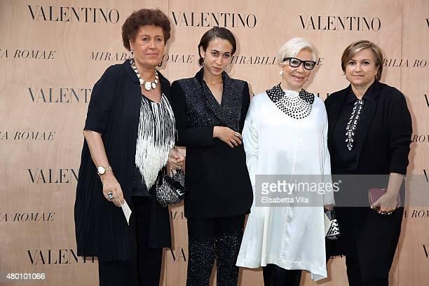 Carla Fendi Delfina Delettrez Fendi Anna Fendi and Silvia Venturini Fendi attend the Valentino 'Mirabilia Romae' haute couture collection fall/winter...