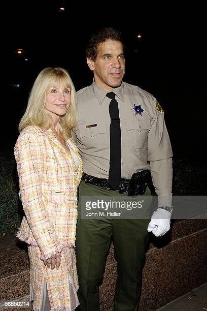Carla Ferrigno and her husband Lou Ferrigno newly sworn in Los Angeles County Reserve Deputy Sherrif after the Actor and World Champion body builders...