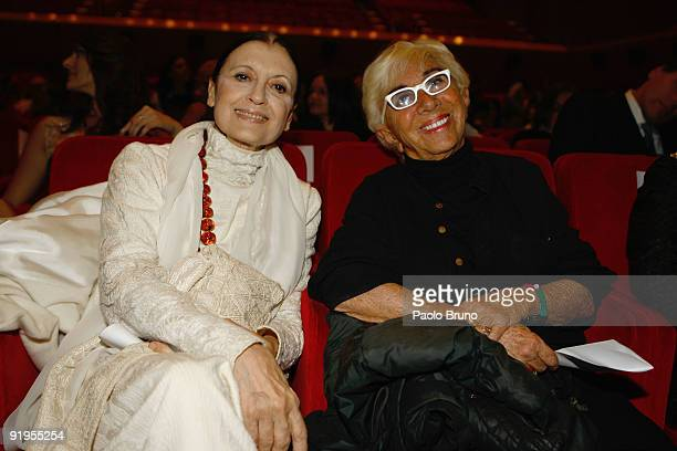 Carla Fracci and Lina Wertmuller attends the FAO World Food Day Event during Day 2 of the 4th International Rome Film Festival held at the Auditorium...