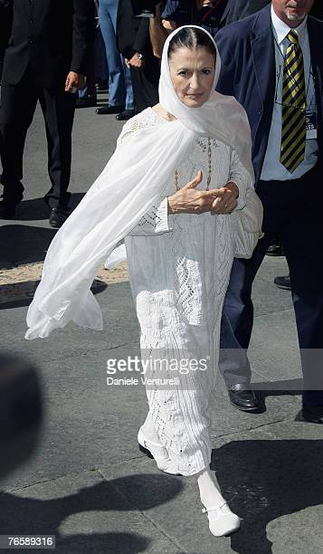 Carla Fracci attends Luciano Pavarotti's funeral held in Modena's Duomo on September 8 2007 in Modena Italy Pavarotti died of pancreatic cancer on...