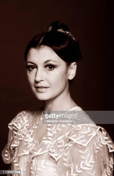 Carla Fracci Italian ballet dancer Milan Italy August 1989
