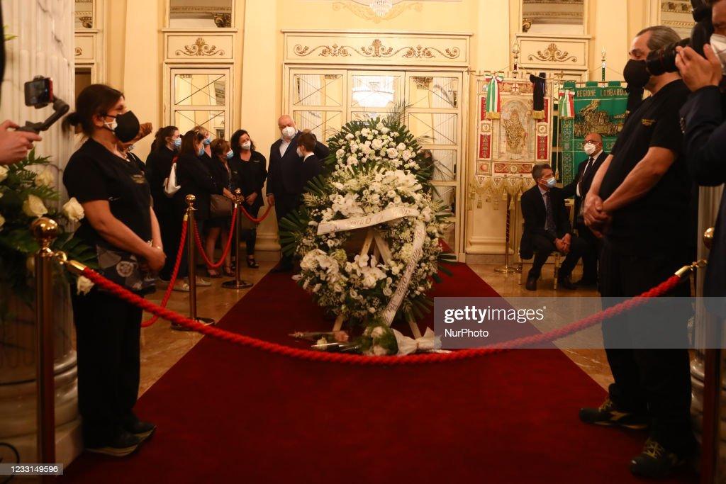 Carla Fracci's Funeral Chamber : Foto di attualità