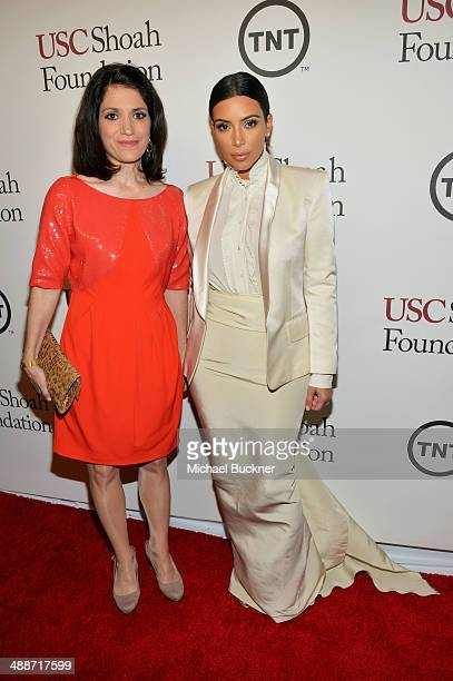 Carla Garapedian of the Armenian Film Foundation and TV personality Kim Kardashian attend USC Shoah Foundation's 20th Anniversary Gala at the Hyatt...