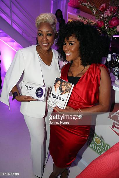 Carla Gentry Osorio and Miko Branch attend the ESSENCE 2015 Best In Black Beauty Awards at 404 NYC on April 28 in New York City