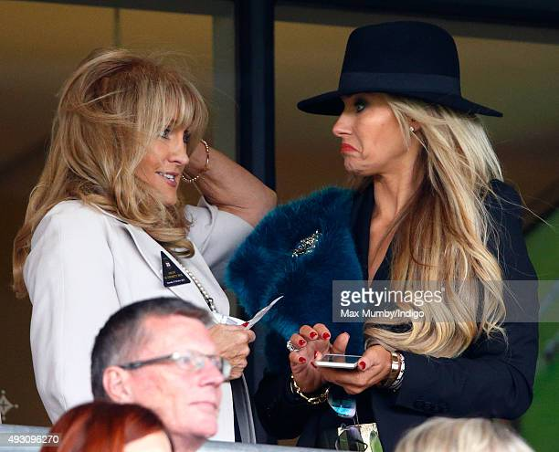 Carla Germaine attends the QIPCO British Champions Day racing meet at Ascot Racecourse on October 17 2015 in Ascot England