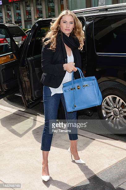 Carla Germaine enters the Sirius XM Studios on April 24 2012 in New York City