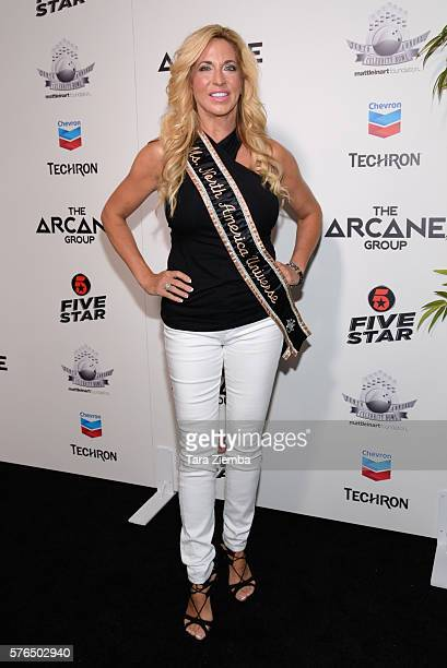 Carla Gonzalez attends Matt Leinart Foundation's 10th Annual Celebrity Bowl For Charity at Lucky Strike Lanes on July 14 2016 in Hollywood California
