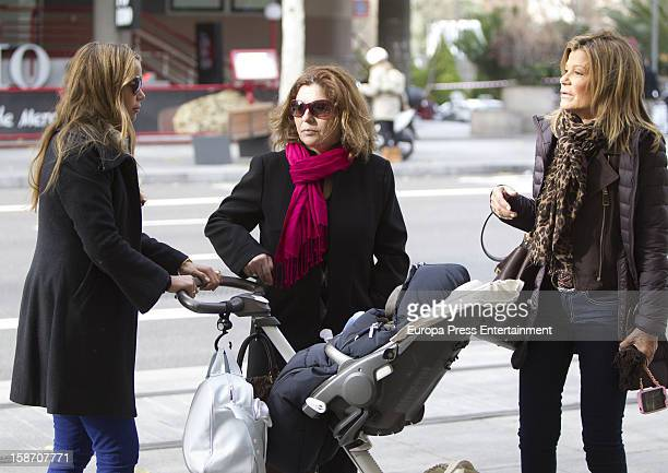Carla Goyanes and Cari Lapique are seen on December 17 2012 in Madrid Spain
