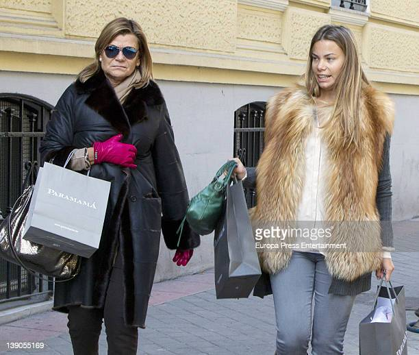 Carla Goyanes and her mother Cari Lapique are seen going for shopping on February 15 2012 in Madrid Spain