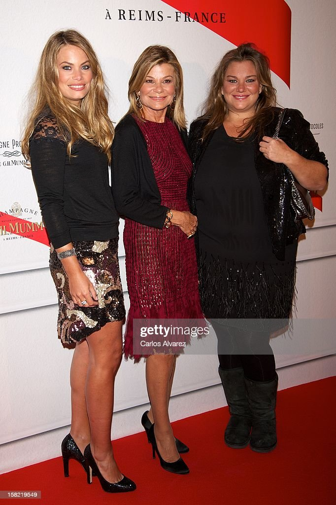 Carla Goyanes, Cari Lapique and Caritina Goyanes attend the Maison Mumm inauguration at the Santo Mauro Hotel on December 11, 2012 in Madrid, Spain.