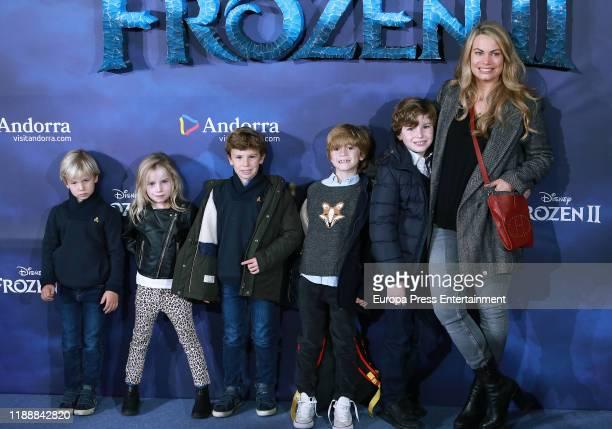 Carla Goyanes Lapique attends 'Frozen II' premiere at Callao Cinema on November 19 2019 in Madrid Spain